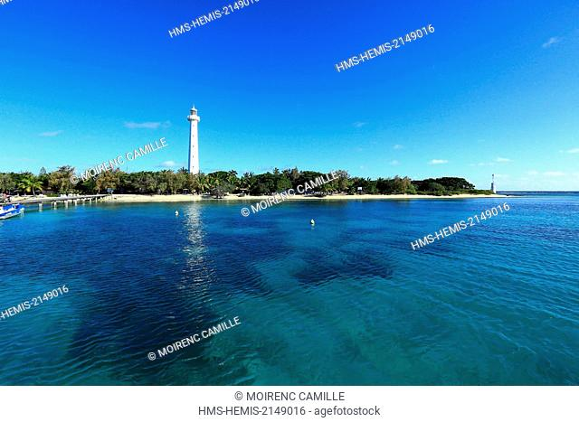 France, New Caledonia, Southern Province, off Noumea, nature reserve island Amedee Lighthouse (1865), Lagoon listed as World Heritage by UNESCO