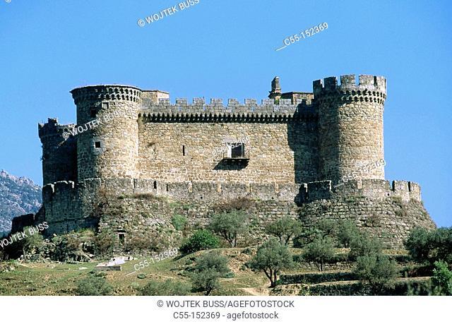 Spain. Avila province. Mombeltran. Alburquerque castle
