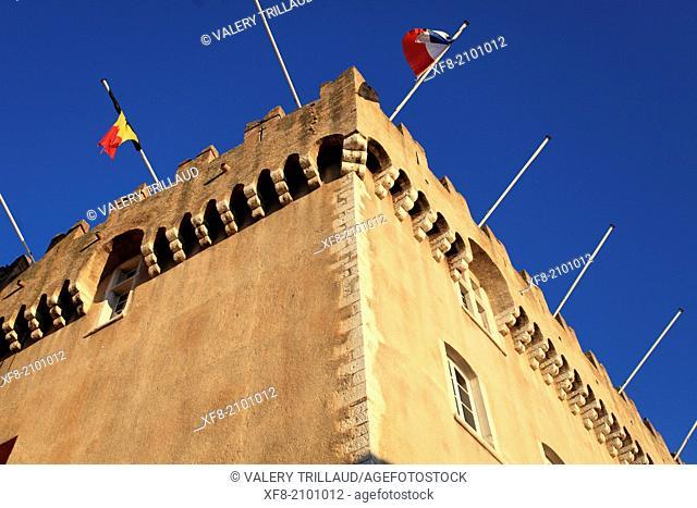 The medieval castle of Cagnes sur mer, Alpes-Maritimes, French Riviera, Côte dAzur, Provence-Alpes-Côte d'Azur, France