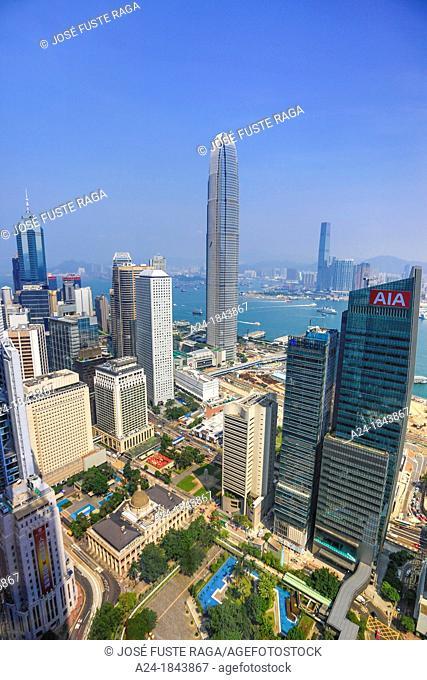 Hong Kong City, Central District , Legislative Council and Financial Center Bldg
