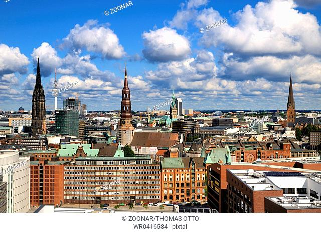 Hamburg, Germany, Downtown Skyline