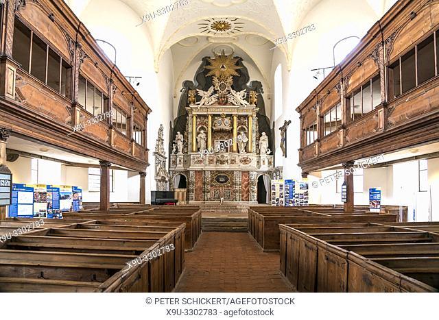 parish church of St. Blasii interior, Quedlinburg, Saxony- Anhalt, Germany