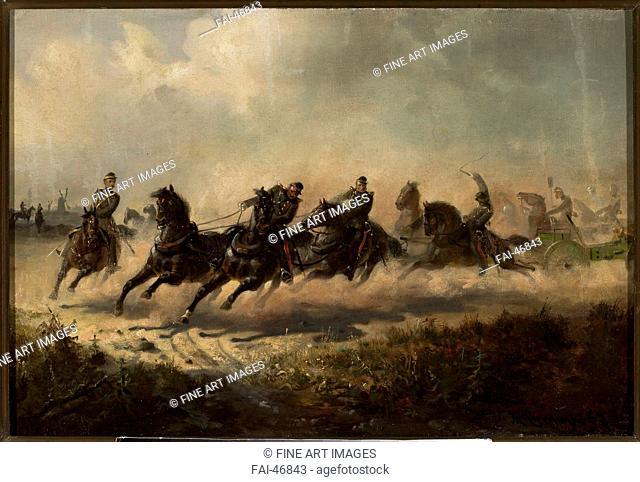 The January Uprising by Gierymski, Maksymilian (1846-1874)/Oil on canvas/Romanticism/1866-1867/Poland/Muzeum Narodowe, Warsaw/History/Painting/Der...