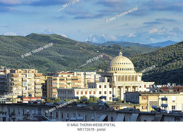 View over Berat university, Albania