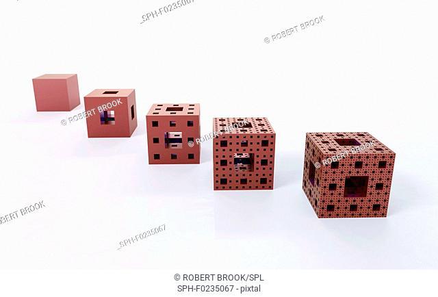 Construction of Menger sponge, illustration