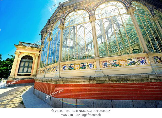 Crystal Palace in Buen Retiro Park in Madrid