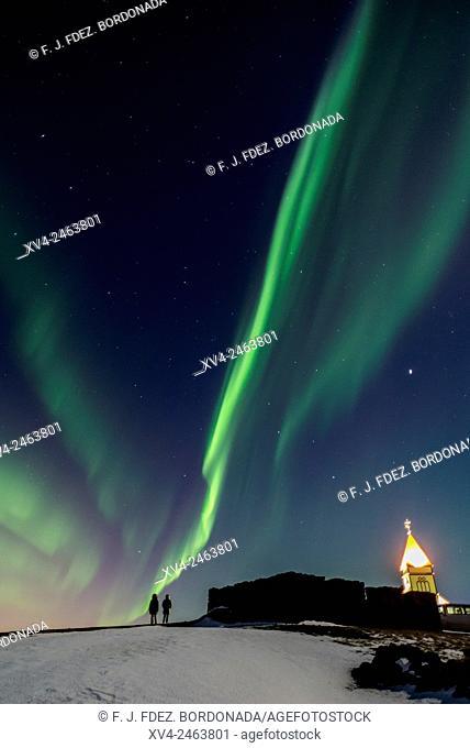 Kopavagur sky by Night, Iceland