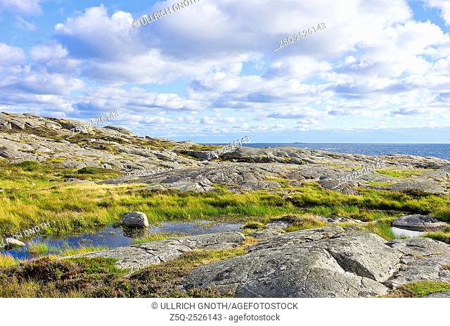Coastal landscape in a natural preserve near the town of Varberg, Halland County, Sweden