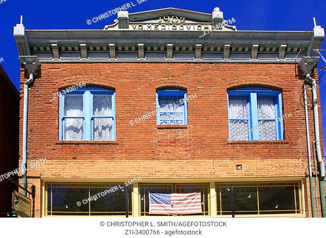 The old Medigovich Brewery building on Brewery Ave in downtown Bisbee, AZ