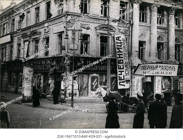 Oct. 10, 1967 - Caption related to the 50th Anniversary of the October Rebellion in Petrograd, the biggest disruption in modern times since the French...
