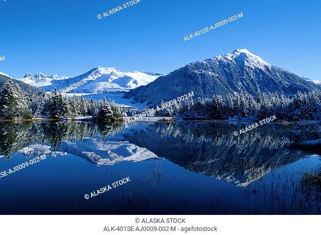 Dredge Lakes Mendenhall Valley Winter Southeast Alaska