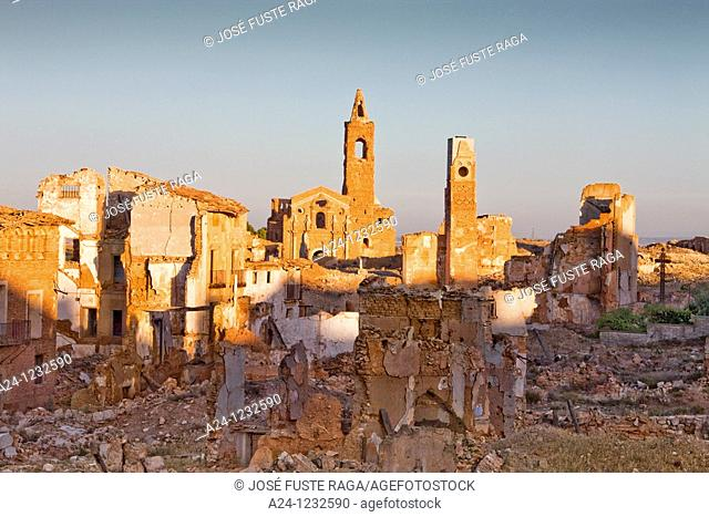 Spain, Aragon region,Ruins of Belchite city