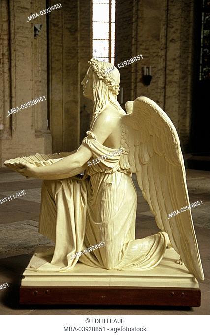 Germany, Mecklenburg-Western Pomerania, island Usedom, Wolgast, St. petri church, angels, no property release, kneels Ostvorpommern