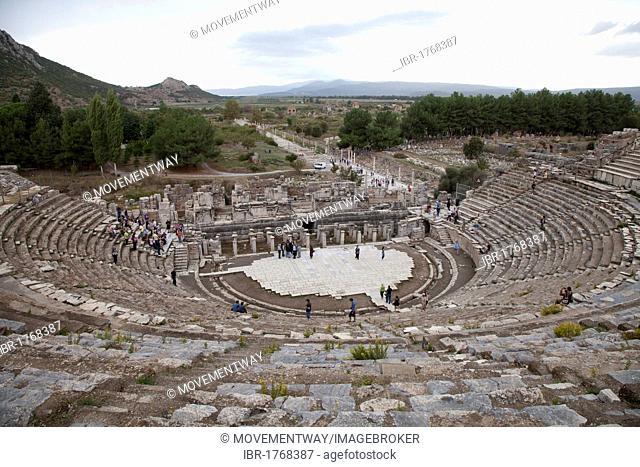 Great Theater, Ephesus, Selcuk, Lycia, Turkey, Asia