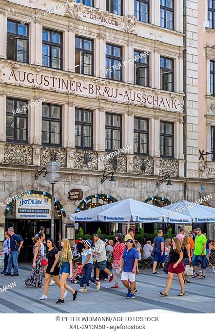 Augustiner Braeu Restaurant in Munich, Bavaria, Germany, Europe