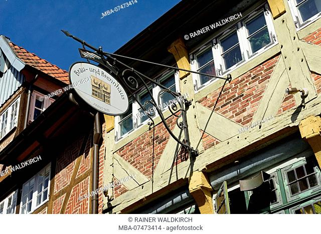 Europe, Germany, Lower Saxony, Hamburg metropolitan area, Lauenburg, Elbe, Elbe street, old town, historic buildings