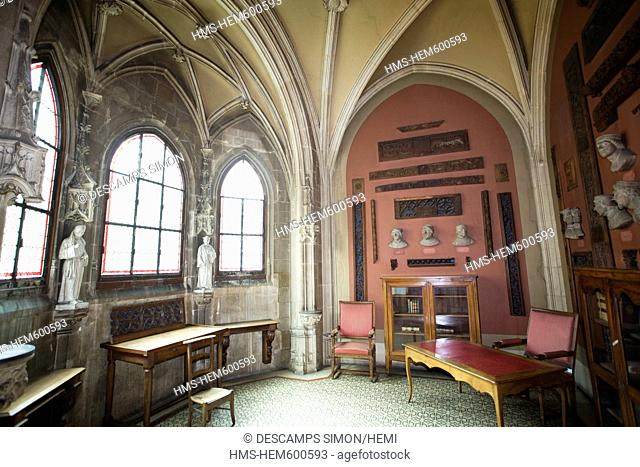 France, Isere, Grenoble, chapel inside the 15th century old Dauphine Parliament, it was the Courthouse of the town until 2002