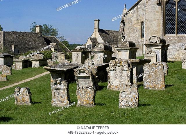 St Mary's Church and graveyard, Swinbrook, Oxfordshire