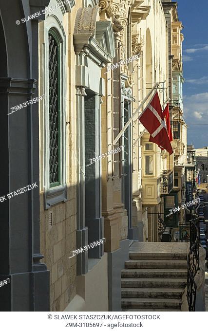 Republic Street in Valletta, Malta