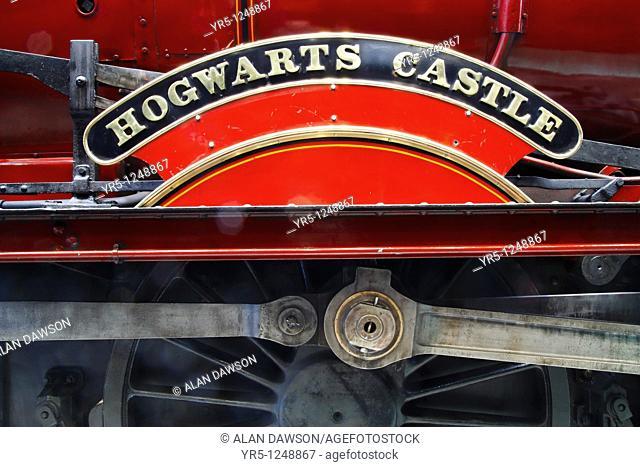 Hogwarts Express steam train used in Harry Potter films National Railway Museum, York, England, United Kingdom