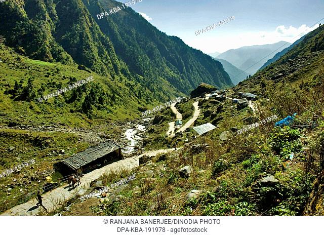Gaurikund to Kedarnath Uttarakhand India Asia