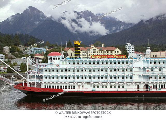 Cruiseship 'Empress of the North'. Sitka Harbor. Sitka. Southeast Alaska. USA