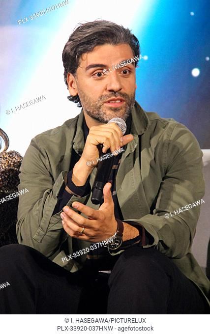 """Oscar Isaac 12/04/2019 """"""""Star Wars: The Rise of the Skywalker"""""""" Press Conference held in Pasadena, CA. Photo by I. Hasegawa / HNW / PictureLux"""