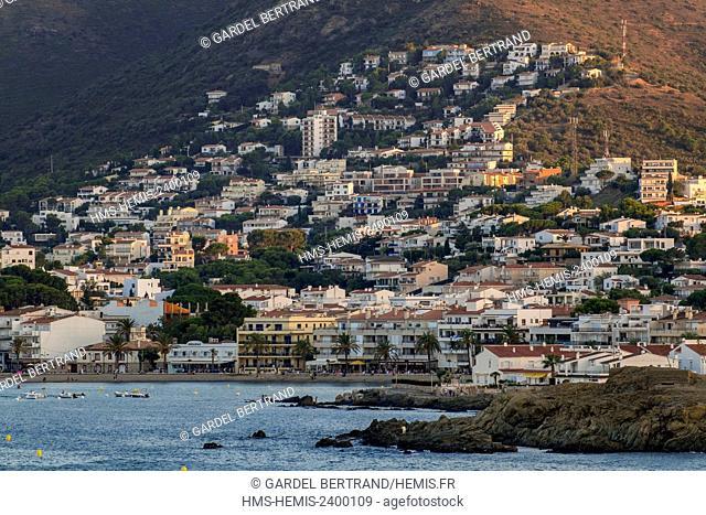 Spain, Catalonia, Costa Brava, Girona province, La Selva, the harbour