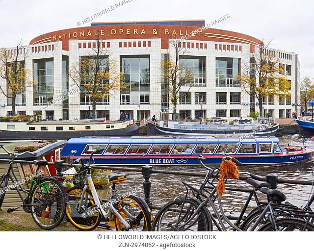Nationale Opera and Ballet in the Stopera building by Wilhelm Holzbauer and Cees Dam (1986), Amsterdam, Holland