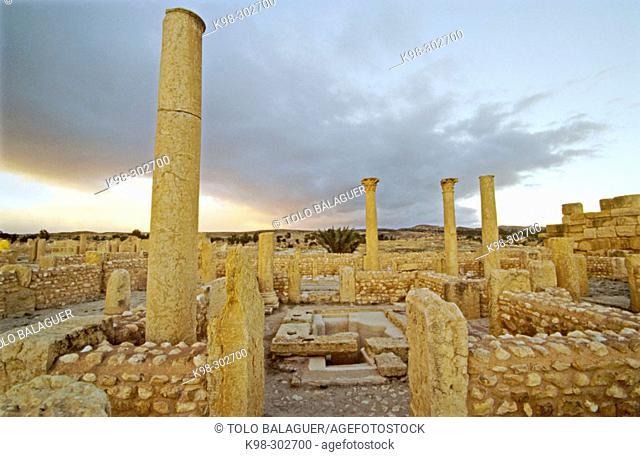 Church of Bellator in Roman city. Sbeitla. Tunisia