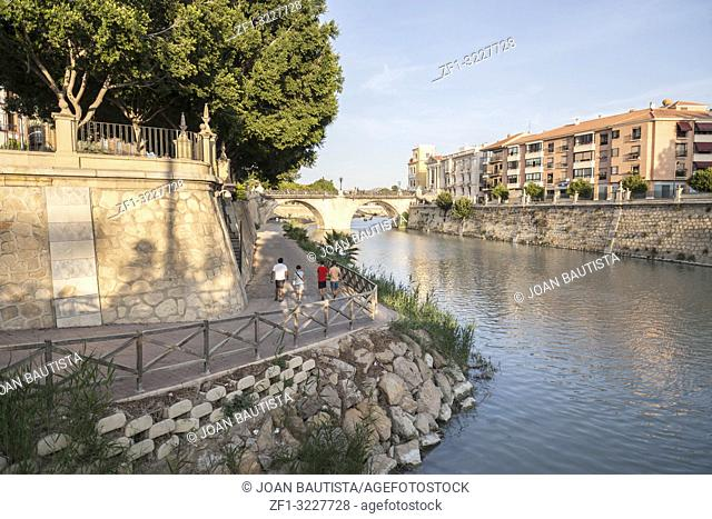 General city view, river Segura and historic buildings,Murcia,Spain