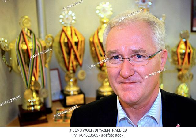 Lothar Mueller, president of the bowling club Rot-Weiss Zerbst, poses in Zerbst, Germany, 28 November 2015. The local bowling club is considered the most...