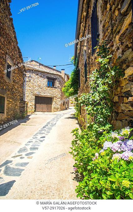 Street. Valverde de los Arroyos, Guadalajara province, Castilla La Mancha, Spain