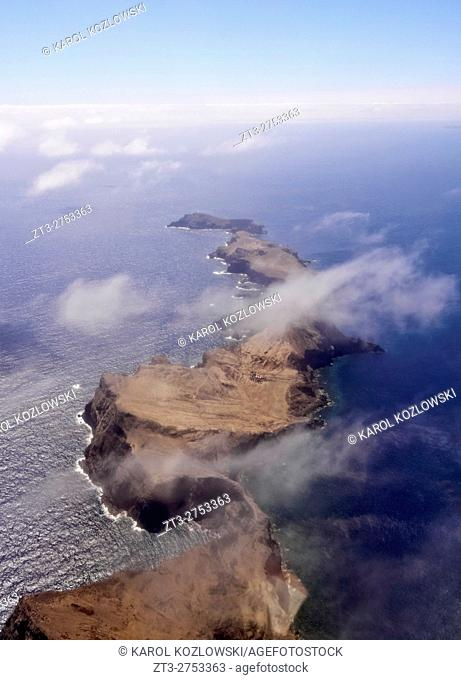 Portugal, Madeira, Aerial view of the Ponta de Sao Lourenco.