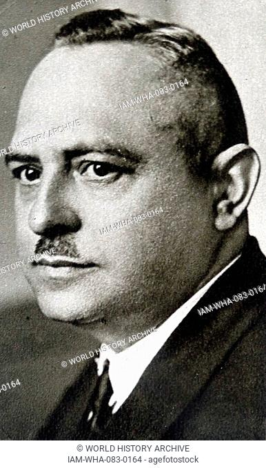 Photographic portrait of Hanns Kerrl (1887-1941) German Nazi politician. Dated 20th Century