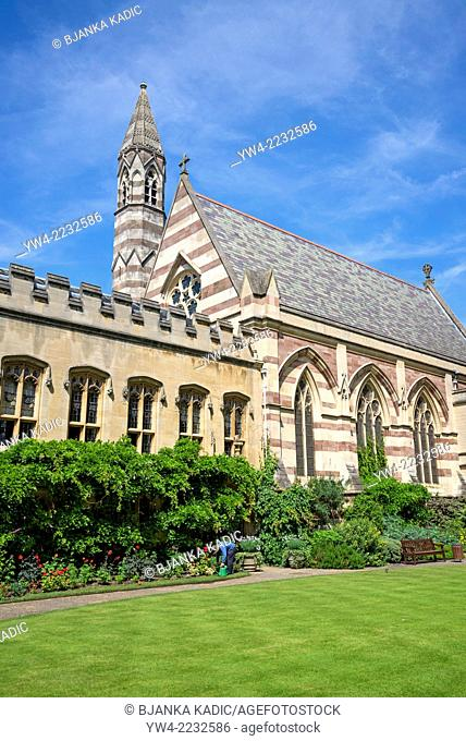 Front Quadrangle with the Chapel, Balliol College, Oxford, England, UK