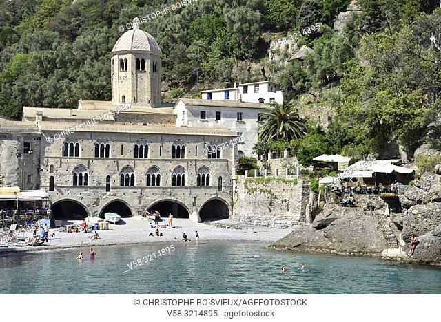 Italy, Liguria, Camogli, Abbey of San Fruttuoso (10-13th C)