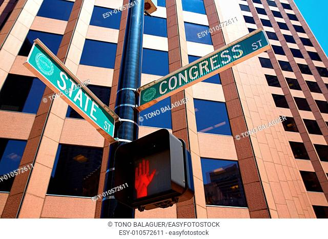 Boston State st and Congress street Massachusetts USA