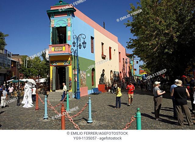 Quarter El Caminito in Buenos Aires  Argentina