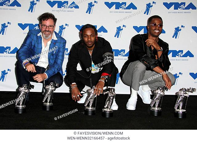 MTV Video Music Awards (VMA) 2017 Press Room, held at the Forum in Inglewood, California. Featuring: Kendrick Lamar, Dave Meyers, Dave Free Where: Inglewood