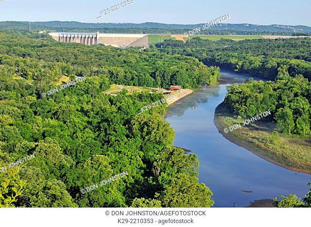 Table Rock Dam and the White River, Table Rock SP, Branson, Missouri, USA