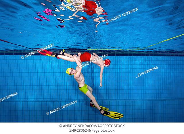 Aquathlon (underwater wrestling) Swimming pool, Nikolaev, Ukraine, Eastern Europe