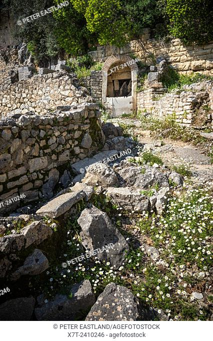 An Ancient well at the Archaeological site of Butrint, Southern Albania