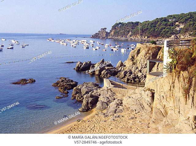 Coastal landscape. Calella de Palafrugell, Gerona province, Catalonia, Spain