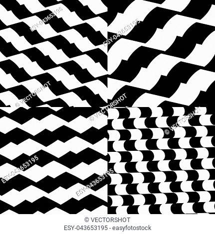 Set of checkered / black-white patterns