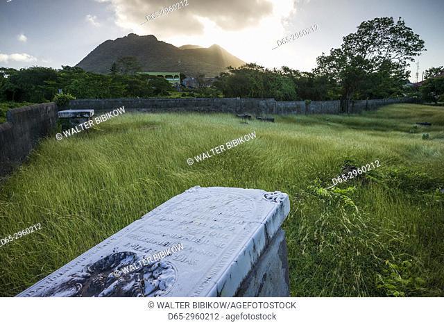 Netherlands, Sint Eustatius, Oranjestad, Jewish Cemetery, used from 1742-1843, gravestones