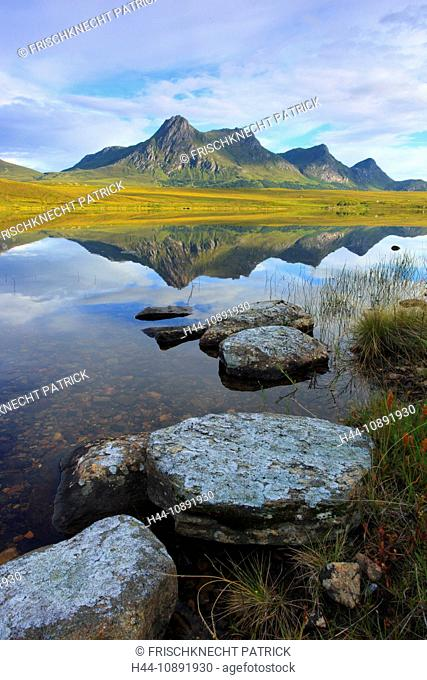Evening, evening mood, Ben Loyal, mountain, mountains, mountains, bodies of water, summits, peaks, Highland, highlands, highland