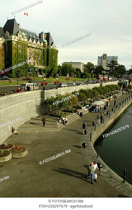 Victoria, British Columbia, Canada, Vancouver Island, Inner Harbour, The Empress Hotel, waterfront