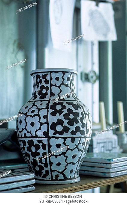 Pottery workshop, Biarritz, France