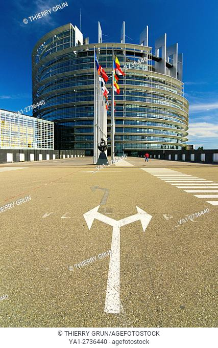 France, Bas Rhin (67), Strasbourg town, European Parliament